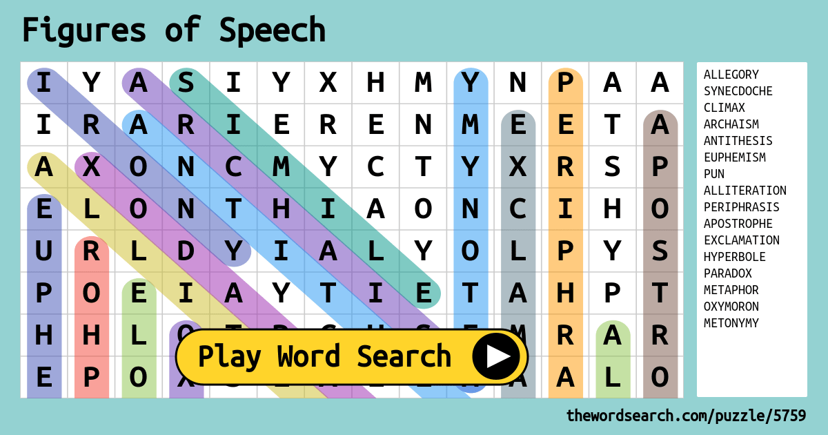 Figures Of Speech Word Search
