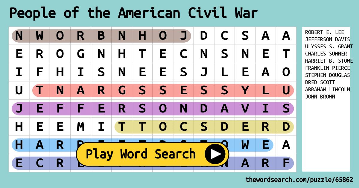 People of the american civil war word search ibookread Read Online