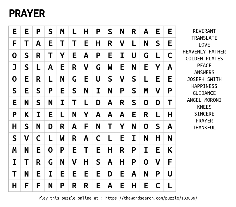 Prayer search