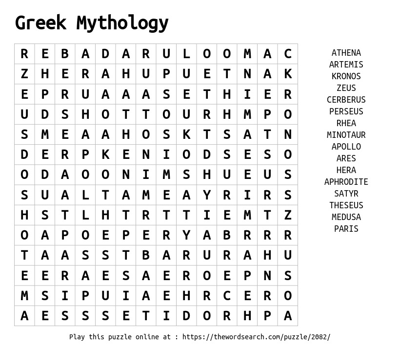 download word search on greek mythology. Black Bedroom Furniture Sets. Home Design Ideas