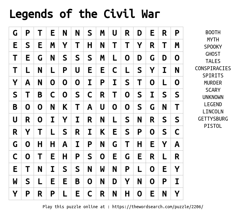 Download word search on legends of the civil war word search on legends of the civil war ibookread Read Online