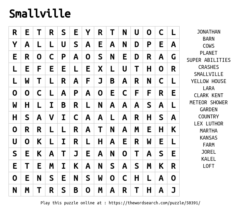 download word search on smallville. Black Bedroom Furniture Sets. Home Design Ideas