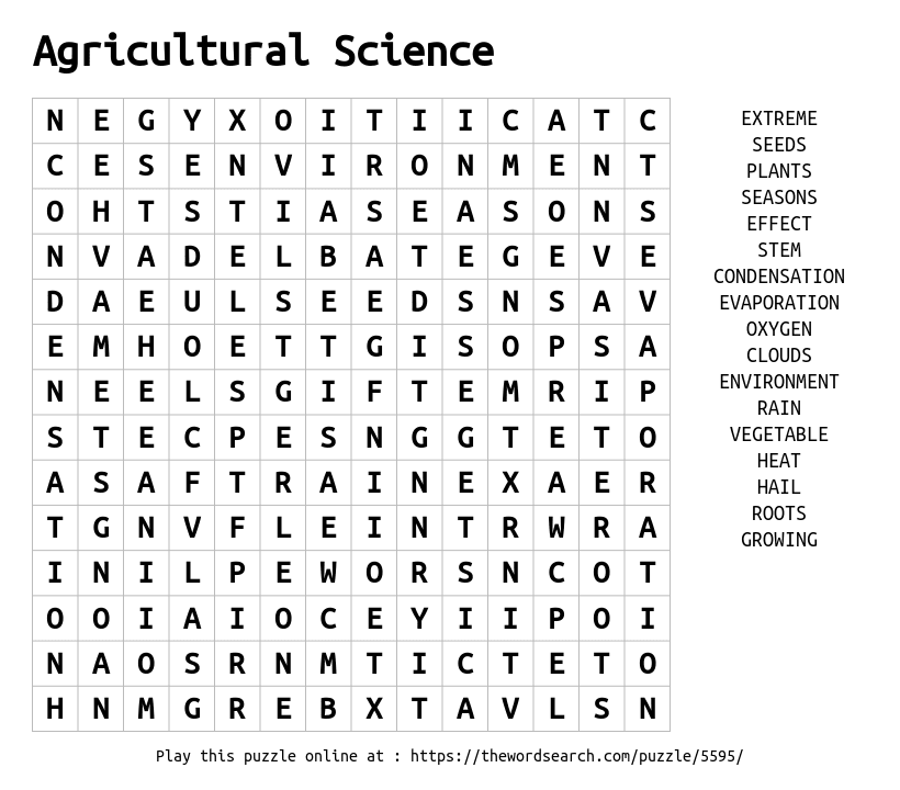physical science word search pdf