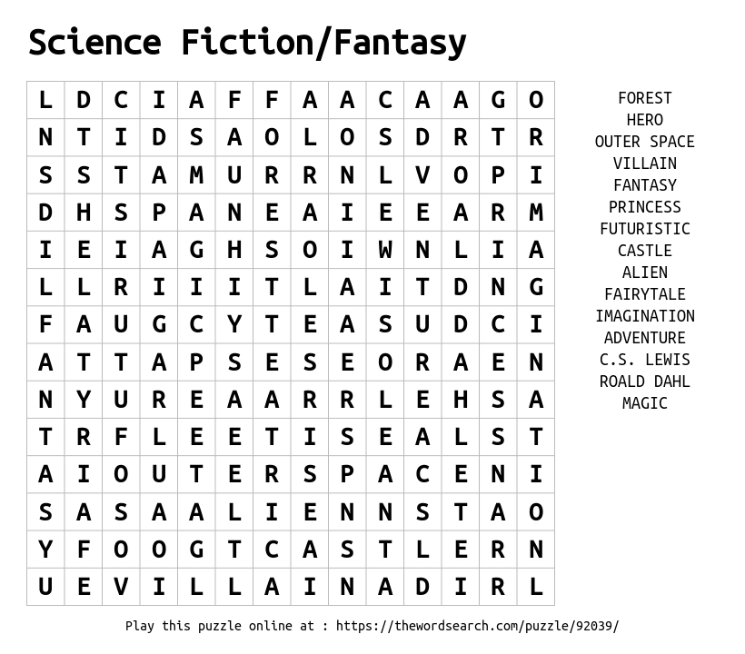 Download Word Search on Science