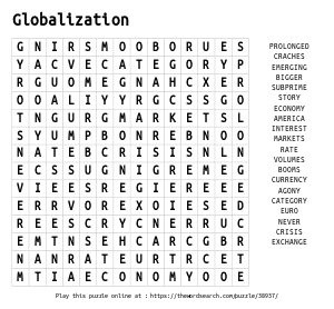Word Search on Globalization