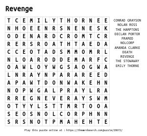 Word Search on Revenge