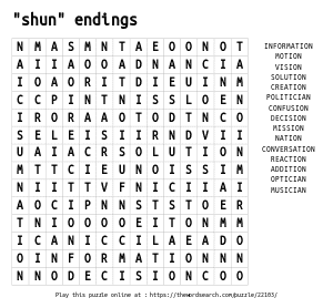 Word Search on