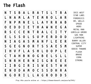 Word Search on The Flash